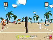 Beach volleyball game j�t�k